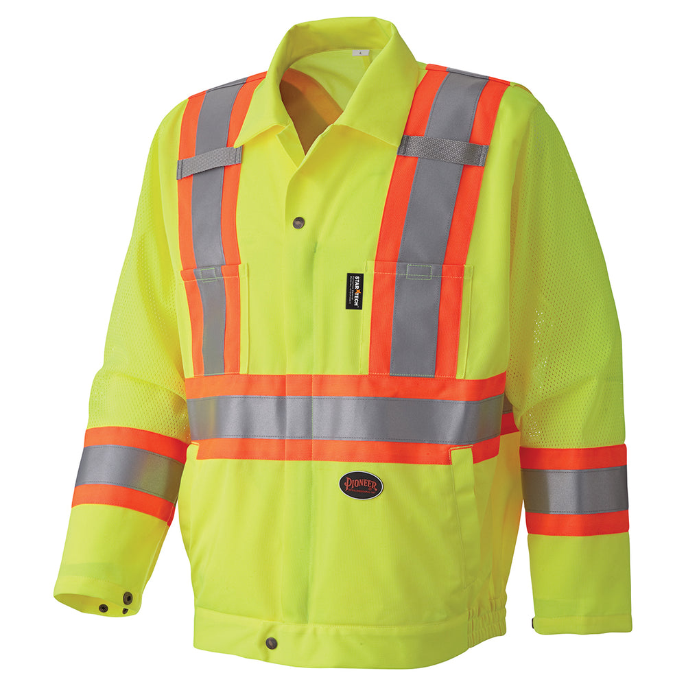 Jackets Pioneer V1070260-5XL Hi-Viz Traffic Safety Jacket (5X-Large)