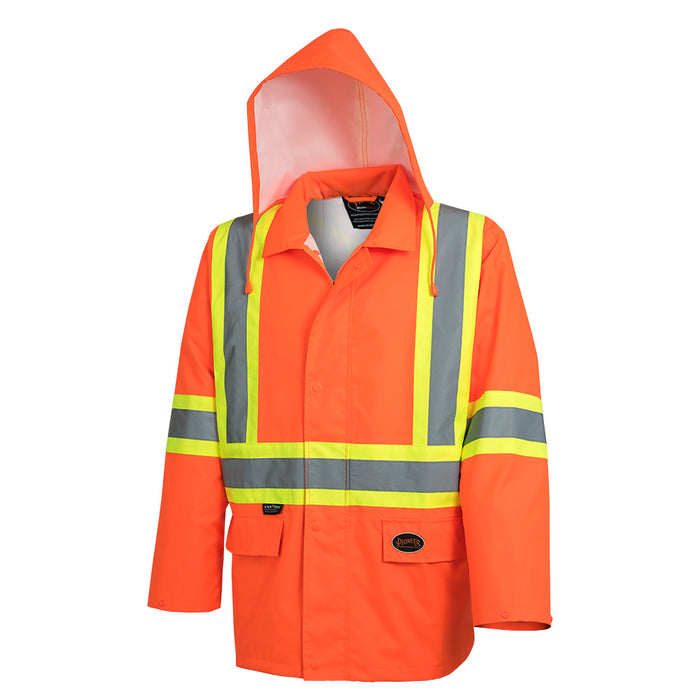 Jackets Pioneer V1081350-S Hi-Viz 300D Oxford Polyester Jacket with PU Coating (Small)