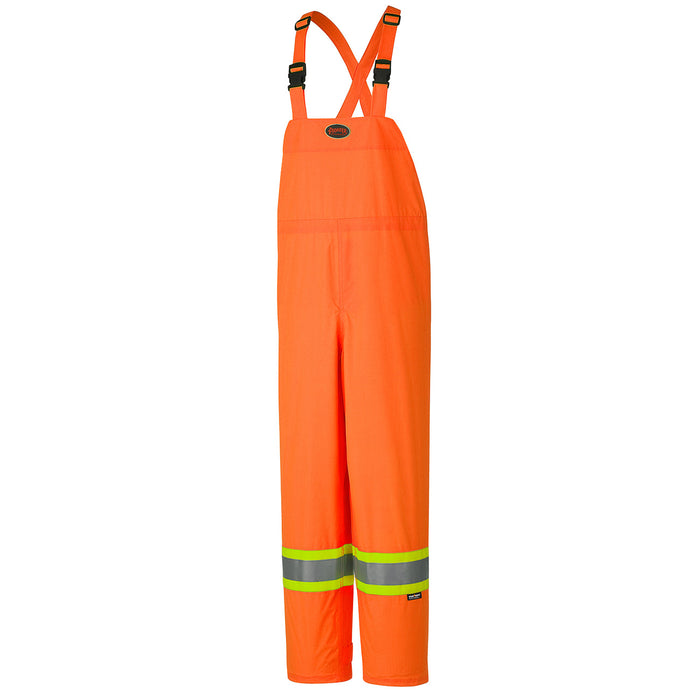 Bib Pants Pioneer V1090250-M Hi-Viz 150D Lightweight Waterproof Safety Bib Pant