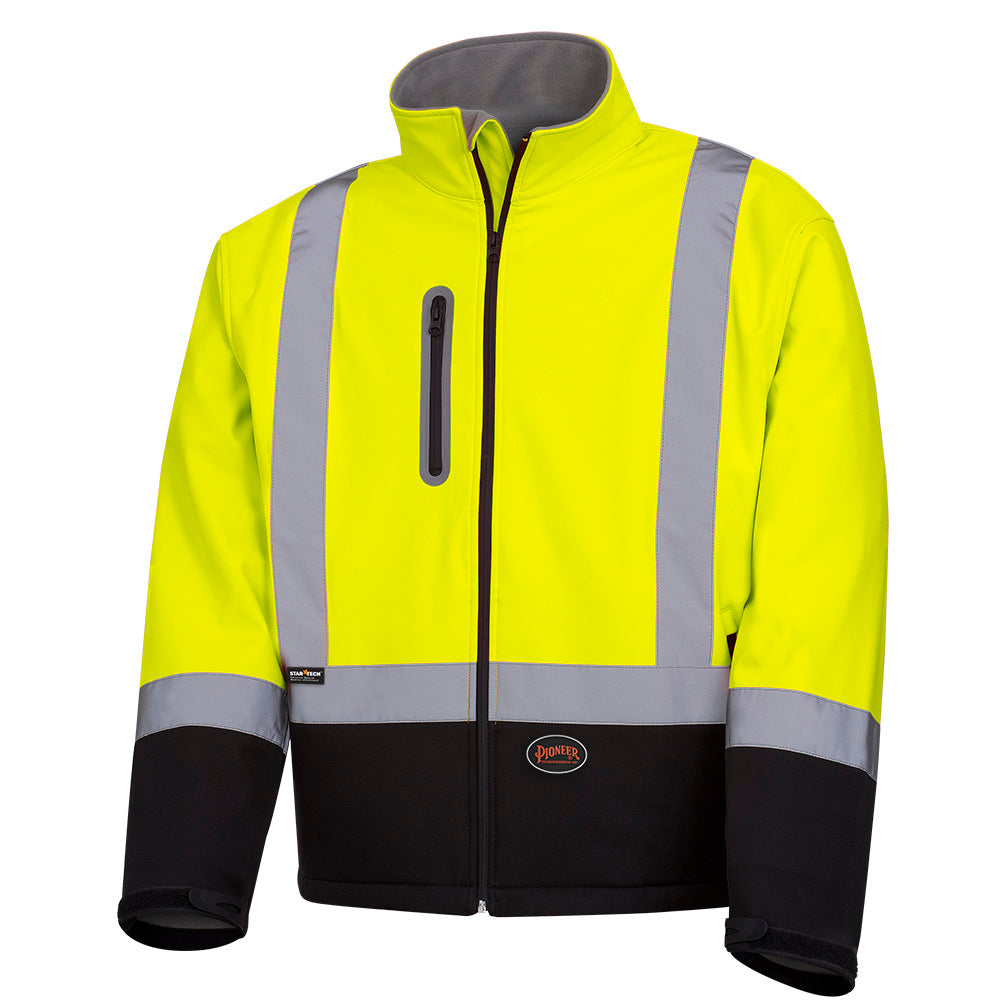 Jackets Pioneer V1100260-XL Hi-Viz Softshell Mechanical Strength Safety Jacket (X-Large)