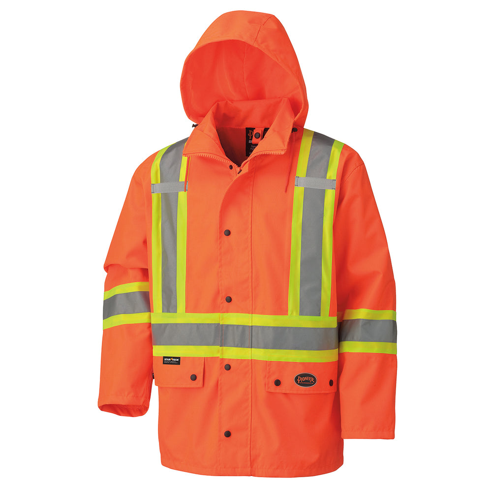 Jackets Pioneer V1110250-M Hi-Viz 450D 100% Waterproof Jacket (Medium)