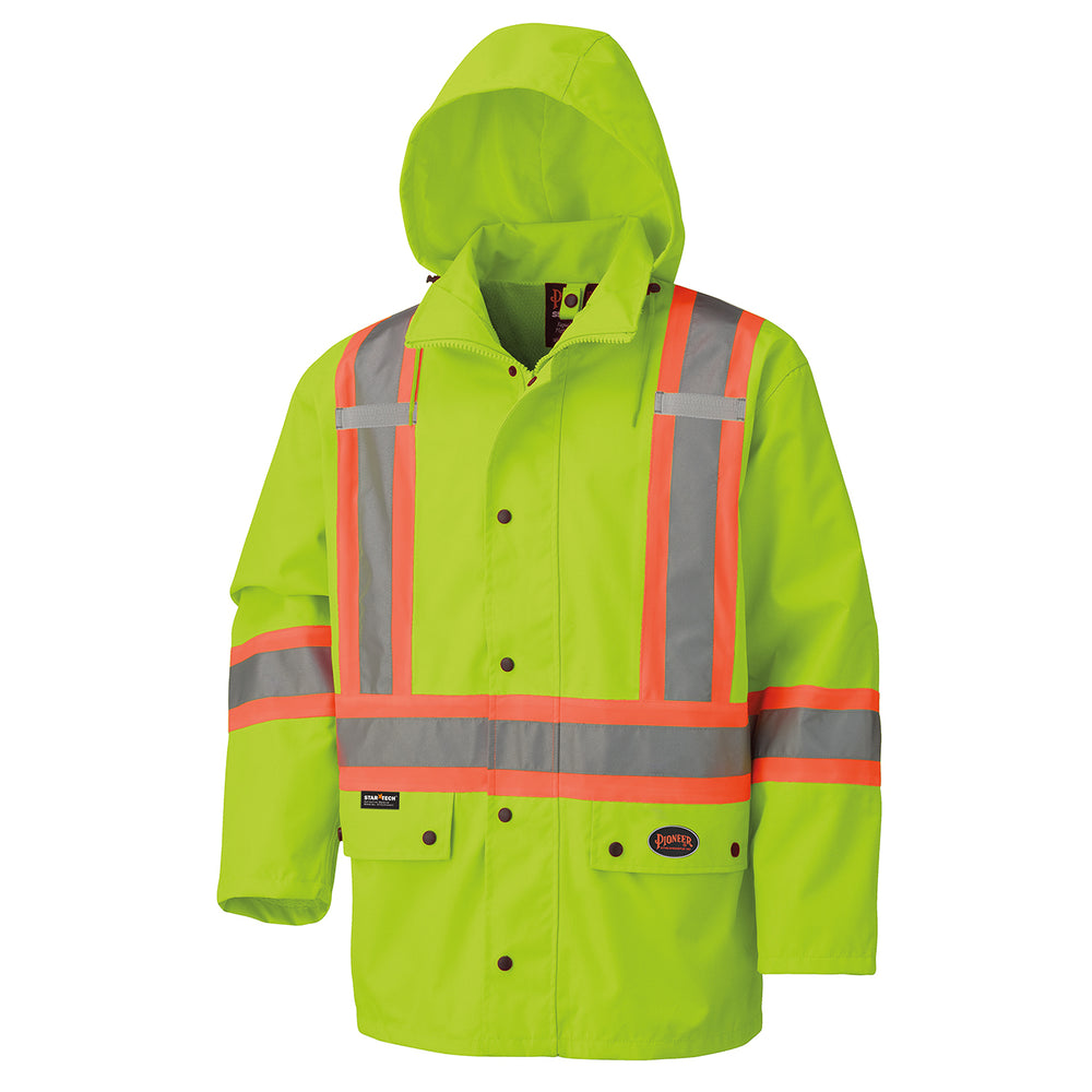 Jackets Pioneer V1110660-2XL Hi-Viz 450D 100% Waterproof Jacket (2X-Large)