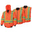 Bomber Jackets Pioneer V1120350-2XL Hi-Viz 100% Waterproof 6-In-1 Bomber (2X-Large)