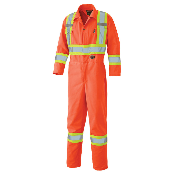 Coveralls Pioneer V116015T-4XL Hi-Viz Safety Poly/Cotton Coverall