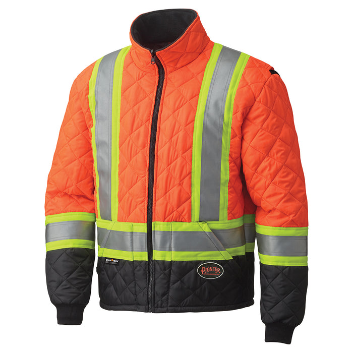 Jackets Pioneer V1170150-XL Hi-Viz Quilted Freezer Jacket (X-Large)
