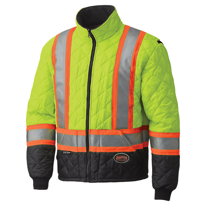 Jackets Pioneer V1170160-M Hi-Viz Quilted Freezer Jacket (Medium)