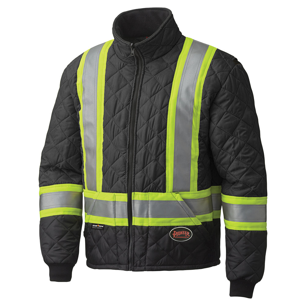 Jackets Pioneer V1170170-5XL Hi-Viz Quilted Freezer Jacket (5X-Large)