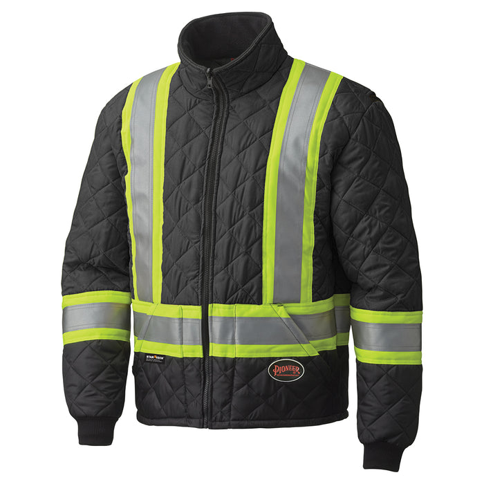 Jackets Pioneer V1170170-4XL Hi-Viz Quilted Freezer Jacket (4X-Large)