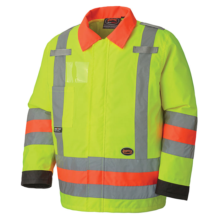 Jackets Pioneer V1190360-L Hi-Viz Traffic Control Waterproof Safety Jacket (Large)