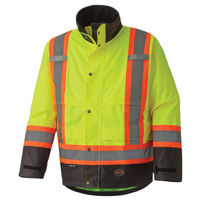 Jackets Pioneer V1200260-XL Hi-Viz 300D Ripstop Waterproof Safety Jacket (X-Large)