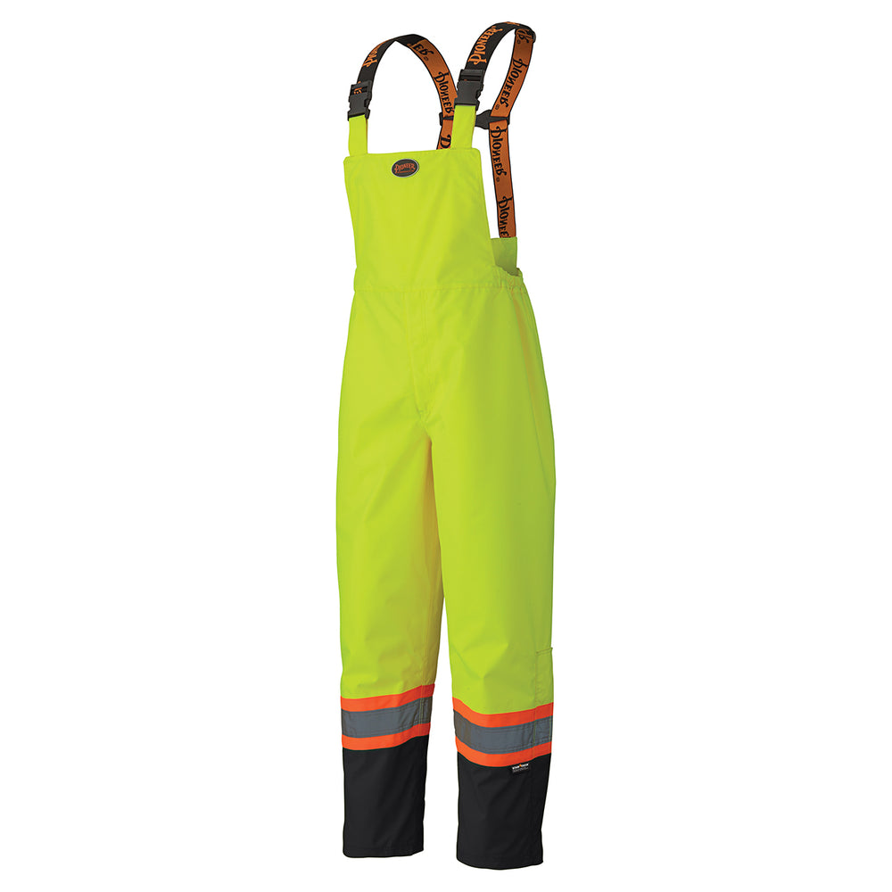 Bib Pants Pioneer V1200460-4XL 300D Hi-Viz Ripstop Waterproof Safety Bib Pant