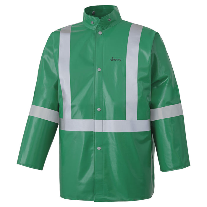 Jackets Pioneer V2241940-XL FR and Chemical Protective Jacket in Green (X-Large)