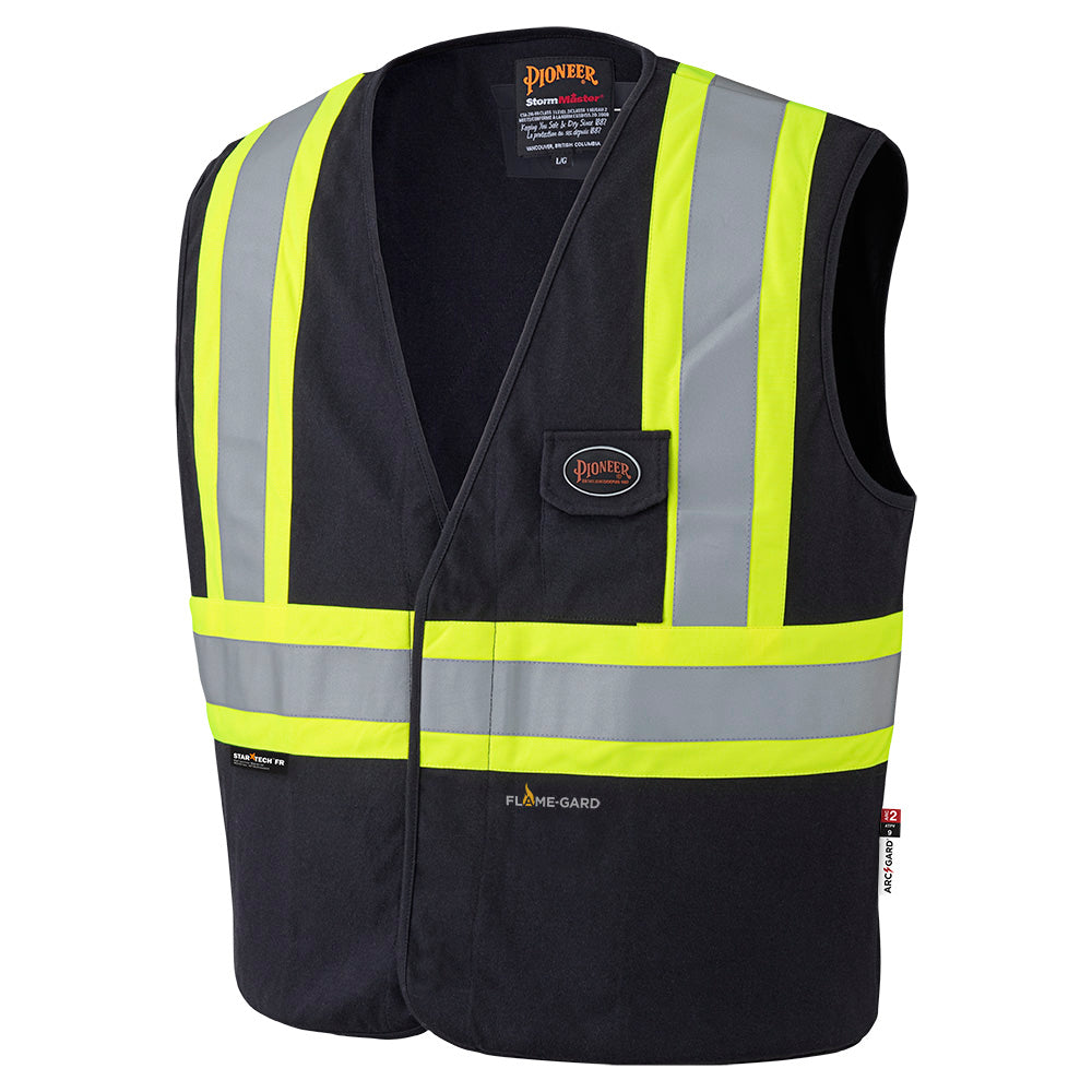 Vests Pioneer V2510170-L 100% Cotton Flame Resistant Safety Vest
