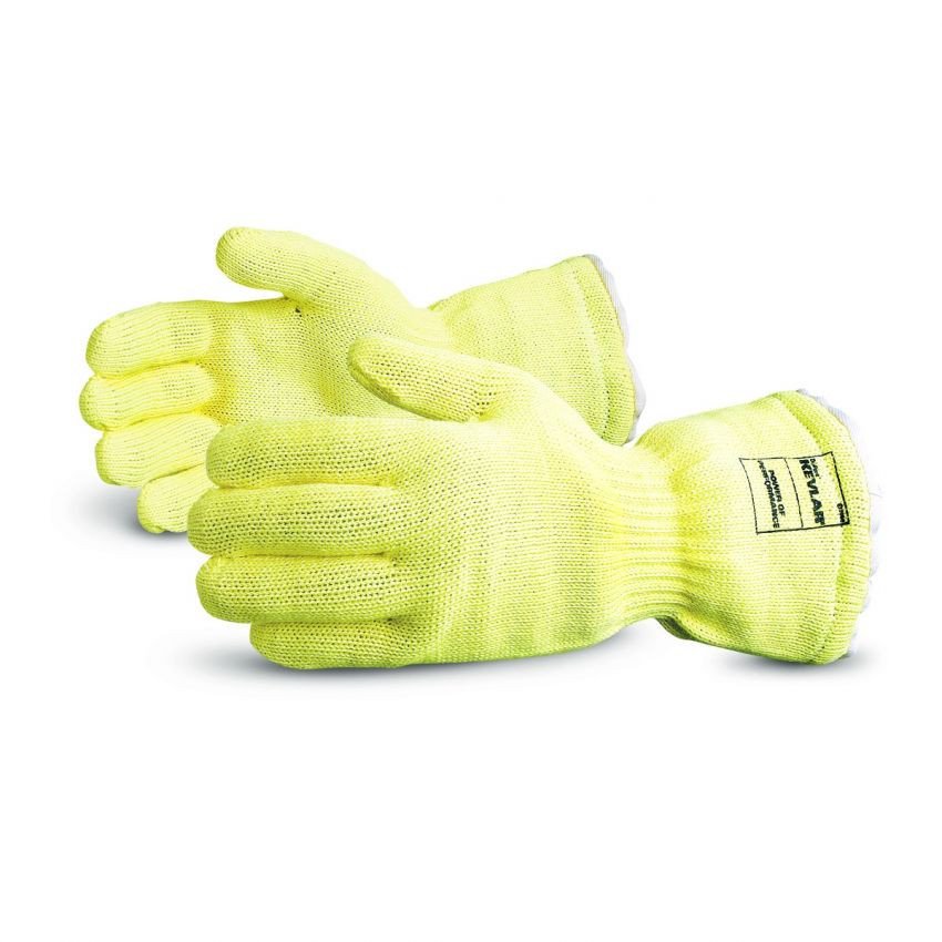 Reusable Gloves Superior Glove K835KP Extreme Hi-Heat Kevlar Gloves - 12 Inches in length, Fully Wool Terry Lined (Large)
