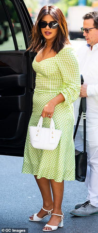 Priyanka Chopra mint green vacay dress