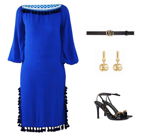 Shop Chriselle lim fashion look Elegant evening resort wear dress