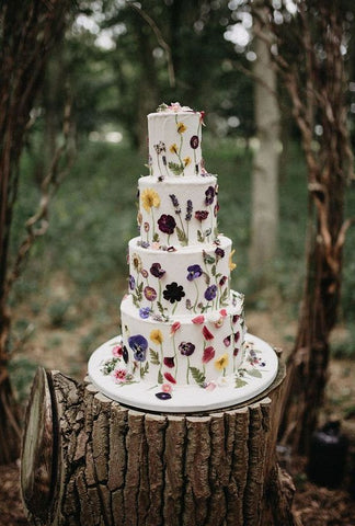 Bohemian wedding cake inspiration