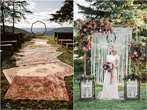 Boho wedding decor ideas