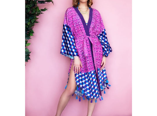 Ariana luxury kimono/ Wrap Kaftan Jackets Sandhya Garg Free Shipping Custom Made United States beach dress Blush dress Bohemian Bohemian