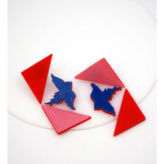 Flying Bird 3D Printed Earrings Jewelry and Accessories Sandhya Garg Free Shipping 3-D Printed