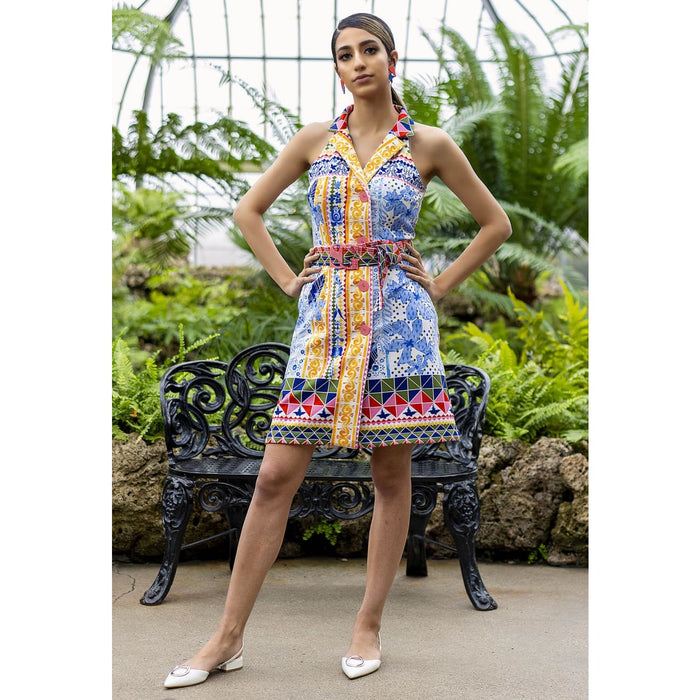 Frida Yellow Jacket Dress Dresses Sandhya Garg Free Shipping beach dress Boho Chic cruise dress Designer dress Dress for vacation