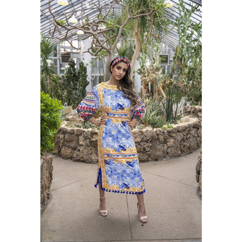 Floral Maxi dress with sleeves bohemian style, summer wedding guest dress for women, USA shop online