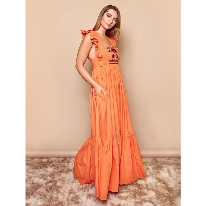 Gatsby Tangerine Maxi Dress