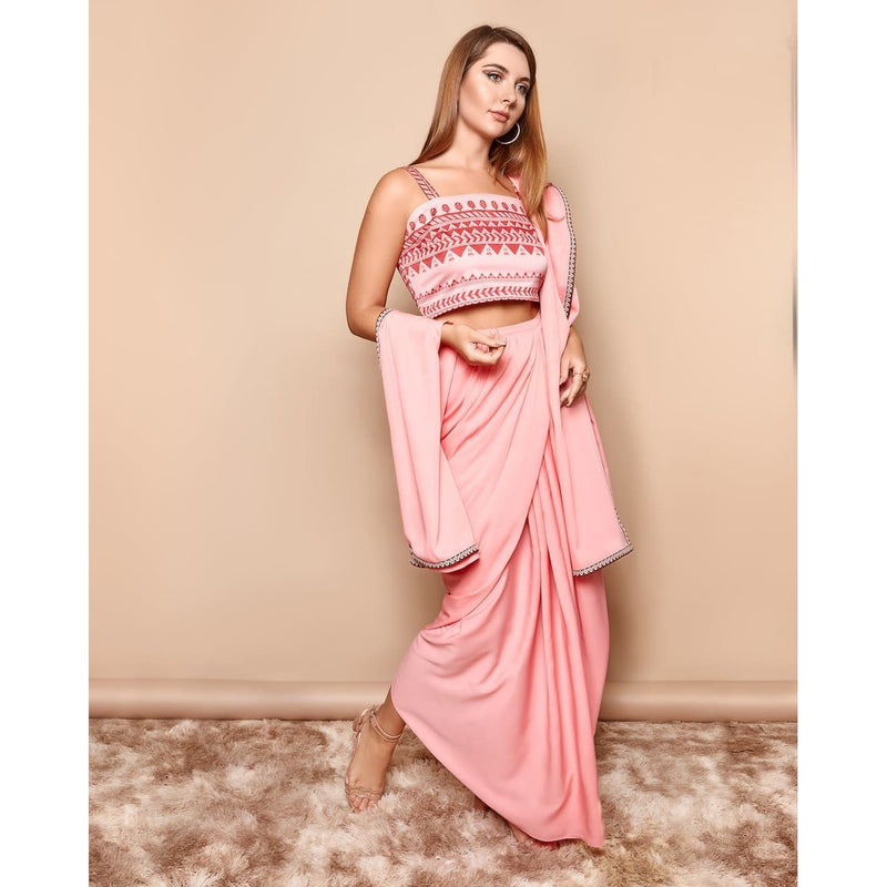 Indian Pink Saree Dress