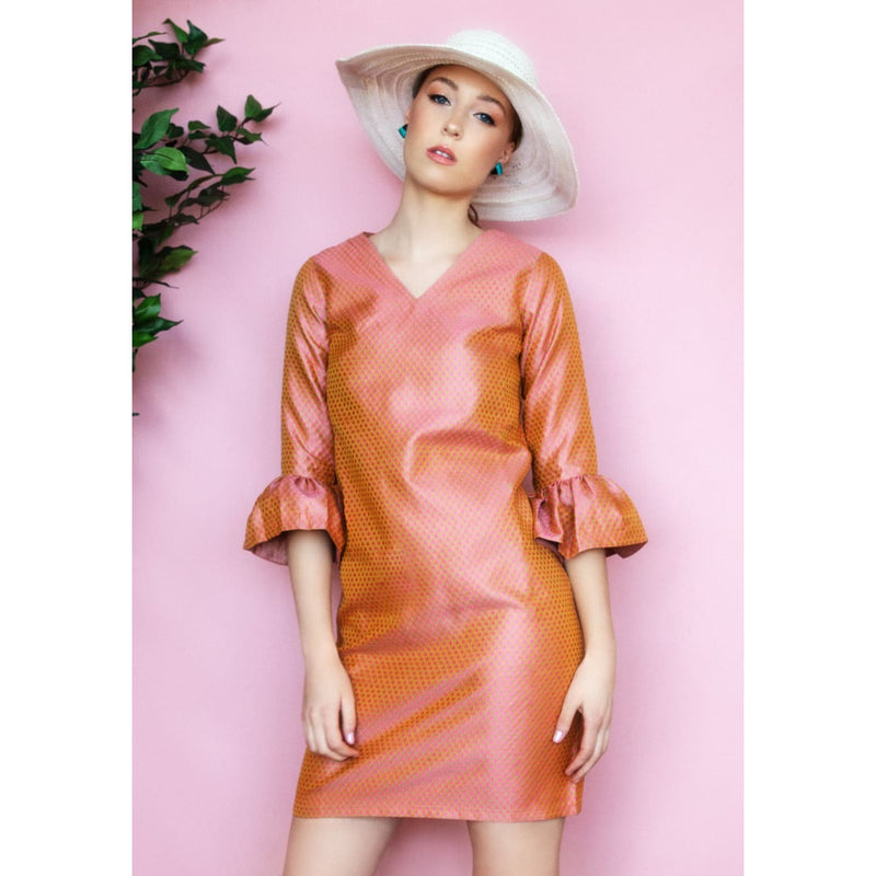 Kim Rose Gold Dress Dresses Sandhya Garg Free Shipping baby shower dress beach dress Blush dress Bohemian Bohemian Dress