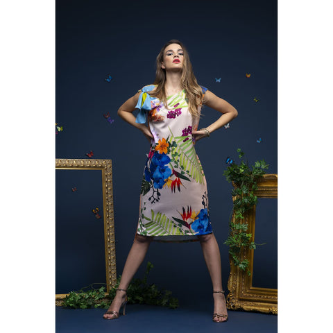 Floral dress for women designer fashion, summer wedding guest dress for women, USA shop online