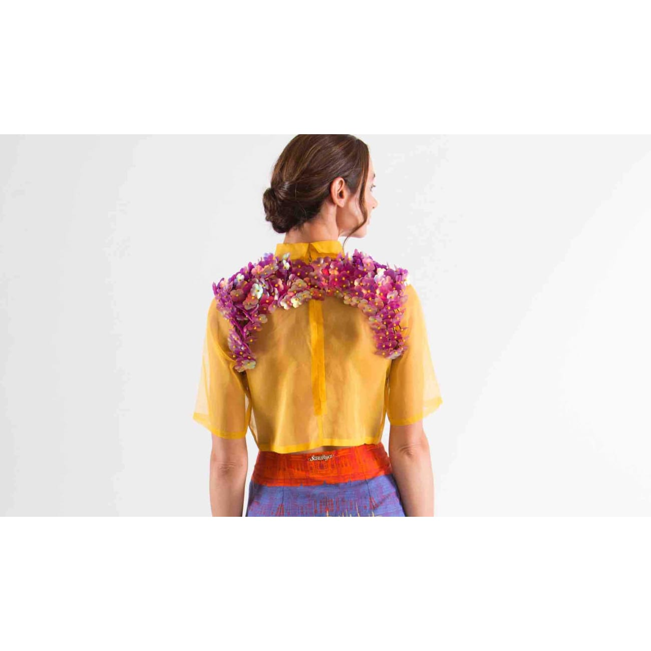 Liza Top Tops and Blouses Sandhya Garg Free Shipping Custom Made United States Bohemian Bohemian Dress Boho Chic Designer dress Luxury