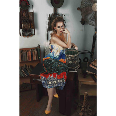 Lyza Dress Dresses Sandhya Garg Free Shipping Custom Made United States Bohemian Bohemian Dress Boho Chic designer dress Luxury