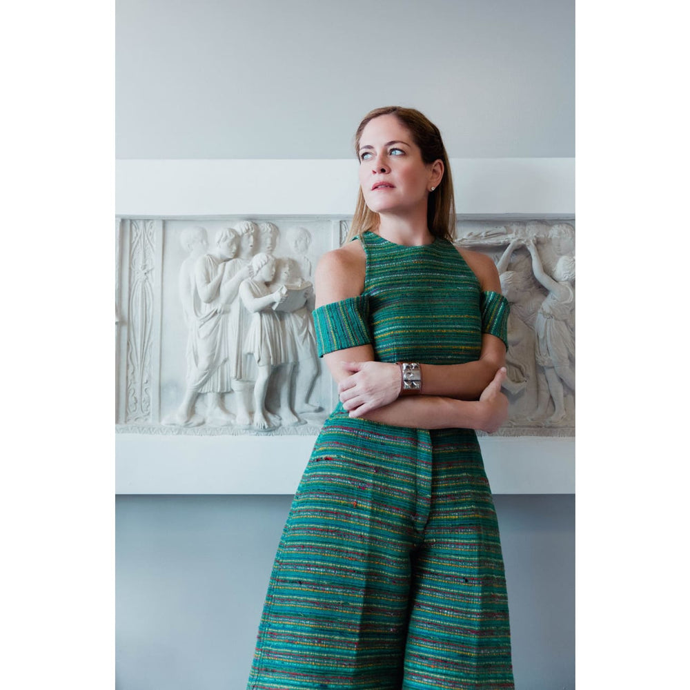 Nima Culottes Skirt and Trousers Sandhya Garg Free Shipping Custom Made United States designer dress evening wear dress Green dress long