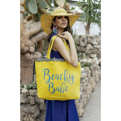 Peela Yellow Tote Bag Jewelry and Accessories Sandhya Garg Free Shipping beach dress Bohemian Dress cruise dress Designer dress Dress for