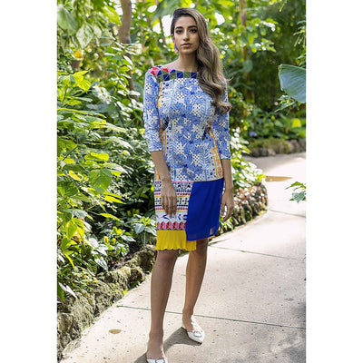 Sofia Pleated Dress Dresses Sandhya Garg Free Shipping Designer dress Dress for vacation Resort wear vacation dress Vacation wear