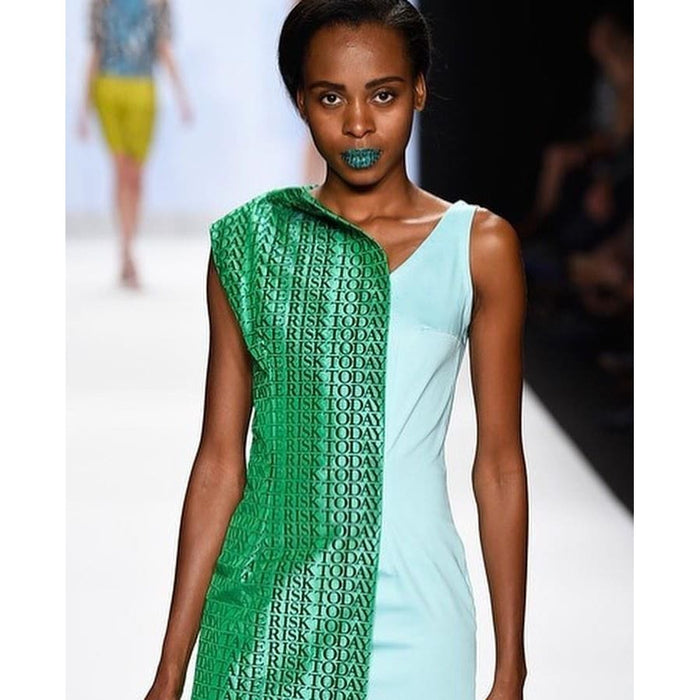 Take Risks Today Green Silk Dress Dresses Sandhya Garg Free Shipping