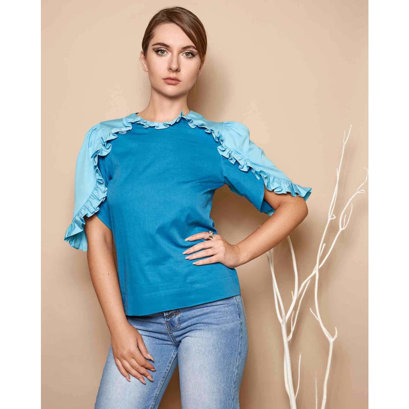 Zaza Blue Top