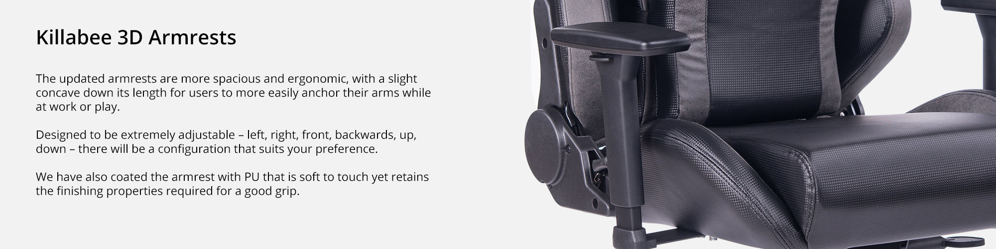 Features (Killabee 3D Armrests)