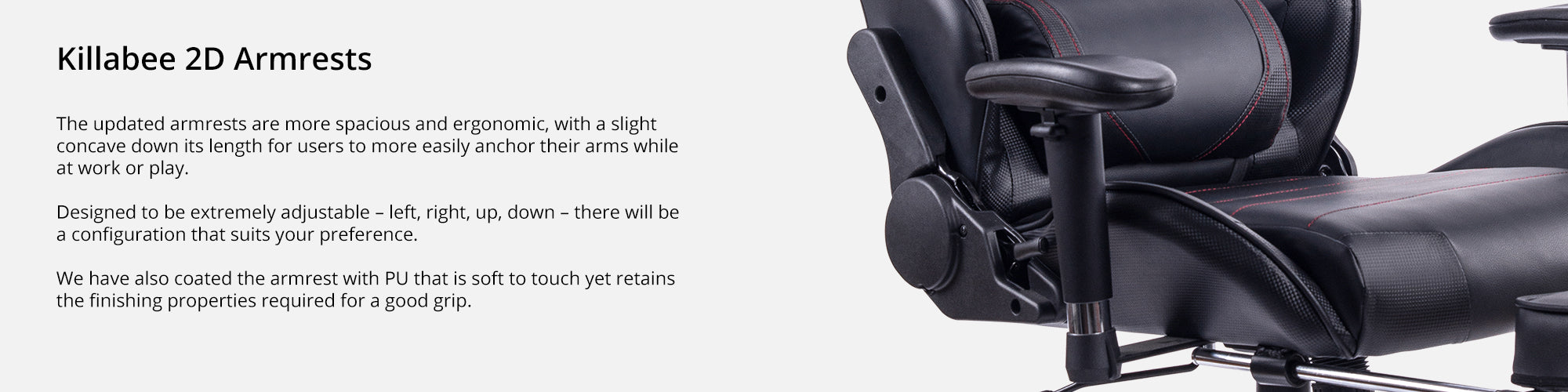 Features (killabee 2D armrests)