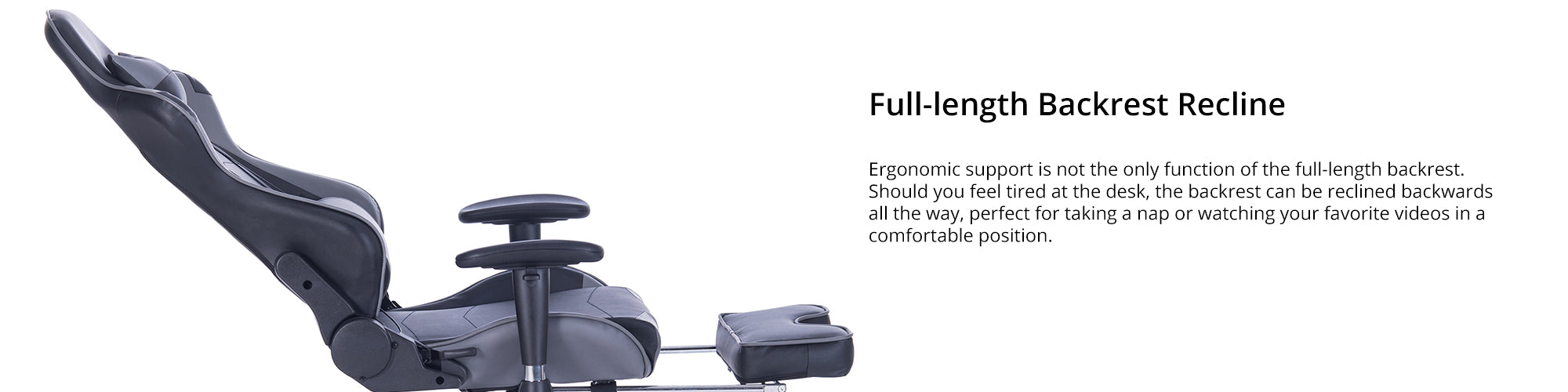 Features (full-length backrest recline)