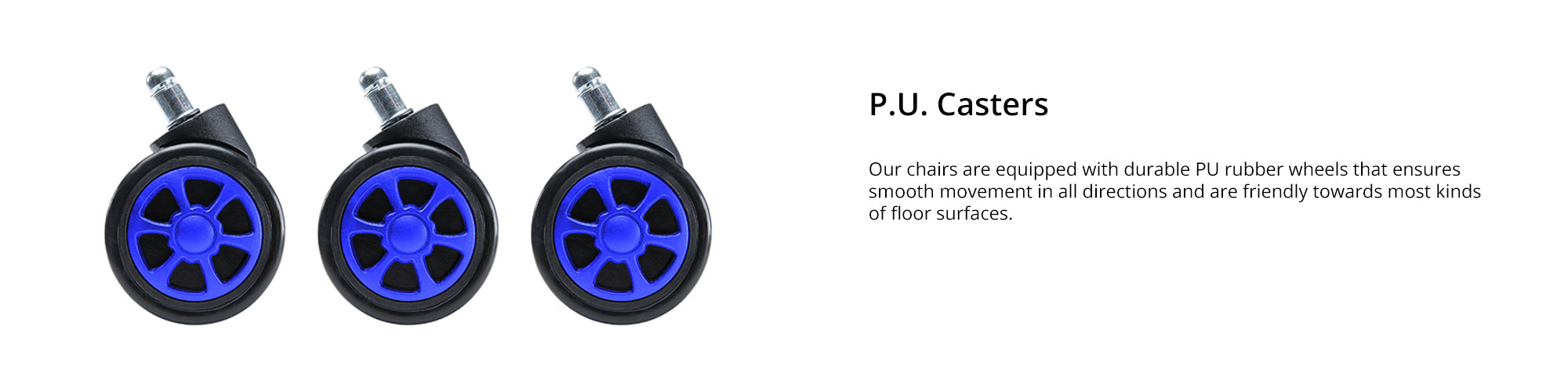 Features (p.u.casters )