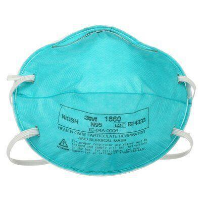 3mtm health care particulate respirator and surgical mask 1860 n95 120