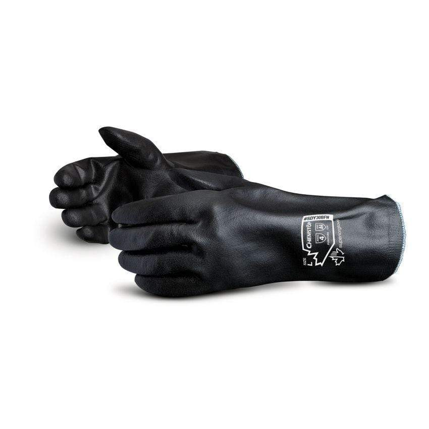 Blended Dyneema Gloves Fully Coated in Black Foam Nitrile - 12 Inch Length -  Chemstop Superior Glove SDY30BFN