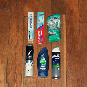 Male toiletry kit - Linkey, homeless initiative London