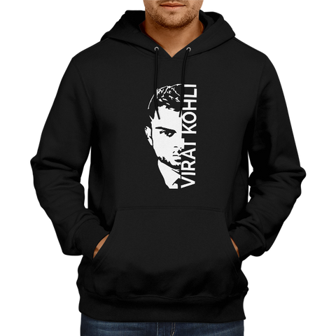 CRIC 35- Virat Kohli with face-Hoodie-Black
