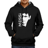 Image of MESSI With Face Hoodie Black