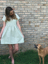 Sage Striped Dress Green | Shop The Pineapple Porch
