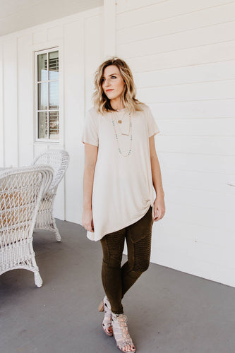 Kaci Tuck Knot Tunic Natural | Shop The Pineapple Porch