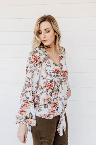 Kendyl Floral Tie Top | Shop The Pineapple Porch