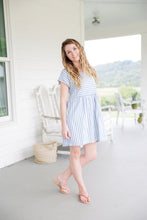 SAGE STRIPED DRESS